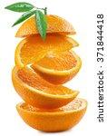 Orange Slices On White...