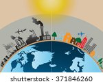 vector infographics design with ... | Shutterstock .eps vector #371846260