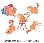 illustration of a set of a cute ... | Shutterstock .eps vector #371848258