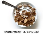 wheat bran breakfast cereal... | Shutterstock . vector #371849230