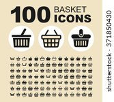 basket and sale icons. store... | Shutterstock .eps vector #371850430