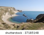 bay and cliffs in south england