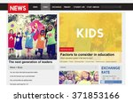 kids news feed article... | Shutterstock . vector #371853166