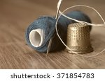 Thimble And Needles For Sewing...