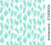 botanical vector seamless... | Shutterstock .eps vector #371858326