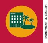 hotel icon eps10 | Shutterstock .eps vector #371858884