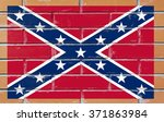 confederate flag painted on old ... | Shutterstock . vector #371863984