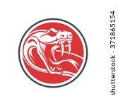 snake emblem circle   Shutterstock .eps vector #371865154