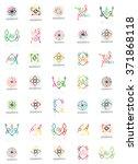 set of vector linear logotypes  ... | Shutterstock .eps vector #371868118