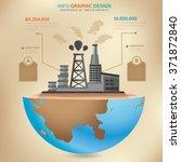 oil industry concept design... | Shutterstock .eps vector #371872840