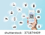digitization and mobility... | Shutterstock . vector #371874409