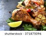 Grilled Spicy Chicken Legs On ...