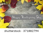 autumn leaves background and... | Shutterstock . vector #371882794