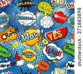 comic speech bubbles seamless... | Shutterstock .eps vector #371883898
