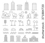 urban landscape design elements ... | Shutterstock .eps vector #371884720