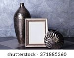 home decor on grey wall... | Shutterstock . vector #371885260
