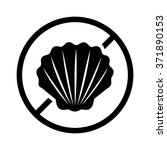 shellfish or shell fish free... | Shutterstock .eps vector #371890153