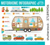recreational vehicle... | Shutterstock .eps vector #371890906