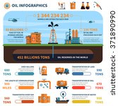 oil infographics set with... | Shutterstock .eps vector #371890990