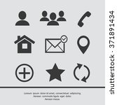 contact icons | Shutterstock .eps vector #371891434
