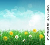 spring background with green... | Shutterstock .eps vector #371892508