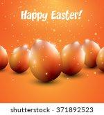 orange easter eggs on orange... | Shutterstock .eps vector #371892523