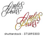 apples and pears wording | Shutterstock . vector #371893303