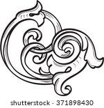 vintage acanthus leaf is... | Shutterstock . vector #371898430