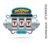 futuristic slot machine...   Shutterstock .eps vector #371904553