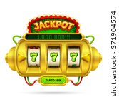 Gold Slot Machine Illustration...