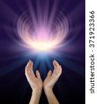 sacred healing energy   female... | Shutterstock . vector #371923366