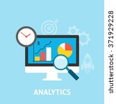 analytics icons flat | Shutterstock .eps vector #371929228