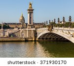 alexandre iii bridge in paris ... | Shutterstock . vector #371930170
