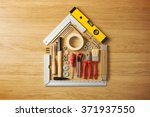 conceptual house composed of... | Shutterstock . vector #371937550