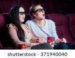 people in the cinema wearing 3d ... | Shutterstock . vector #371940040
