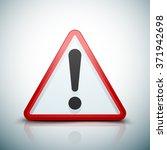 exclamation danger sign | Shutterstock .eps vector #371942698