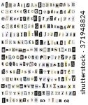 gray alphabet symbols letter... | Shutterstock .eps vector #371948824