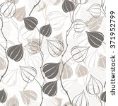 seamless pattern with branches... | Shutterstock .eps vector #371952799