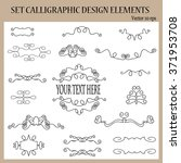 set of calligraphic design... | Shutterstock .eps vector #371953708