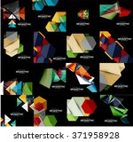 set of geometrical abstract... | Shutterstock .eps vector #371958928