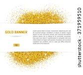 gold vector banner on white... | Shutterstock .eps vector #371959510