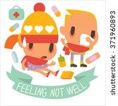 flat of human disease kids....   Shutterstock .eps vector #371960893
