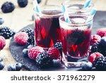 Ice Berry Tea With Raspberries  ...