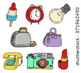accessories vector collection  | Shutterstock .eps vector #371962450