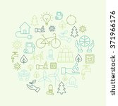 ecology background made of... | Shutterstock .eps vector #371966176