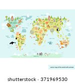 vector illustration world map... | Shutterstock .eps vector #371969530