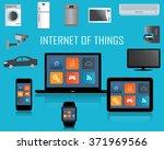 smart phone  tablet  laptop ... | Shutterstock .eps vector #371969566