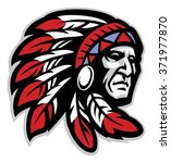 chief mascot head | Shutterstock .eps vector #371977870