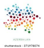 dotted texture azerbaijan... | Shutterstock .eps vector #371978074