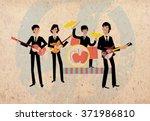 Retro Rock Band Musicians...
